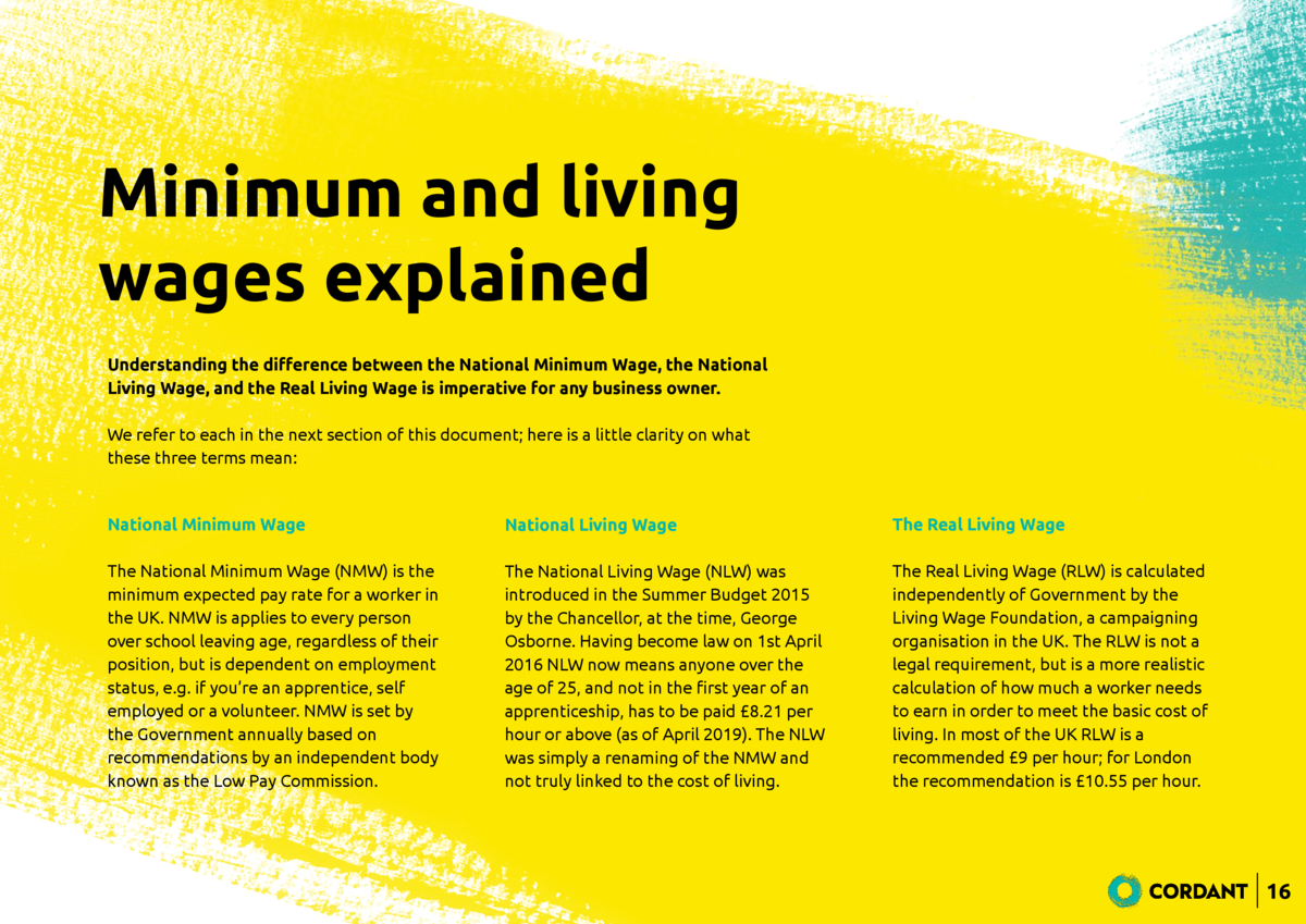 Minimum and living wages explained Understanding the di   erence between the National Minimum Wage, the National Living Wa...