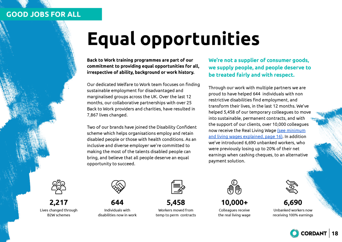 GOOD JOBS FOR ALL  Equal opportunities Back to Work training programmes are part of our commitment to providing equal oppo...
