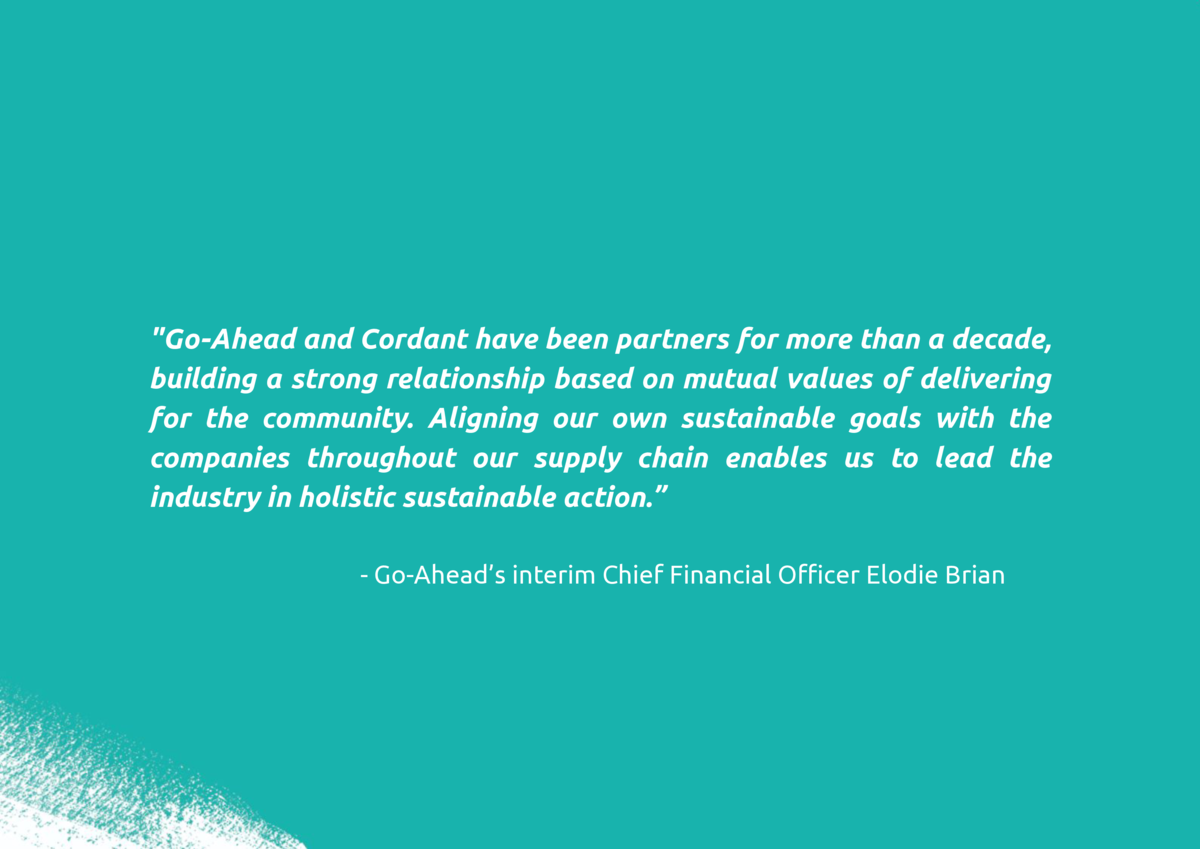 Go-Ahead and Cordant have been partners for more than a decade, building a strong relationship based on mutual values of ...