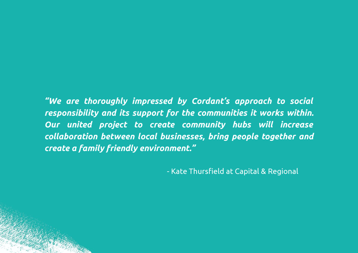 We are thoroughly impressed by Cordant   s approach to social responsibility and its support for the communities it wor...