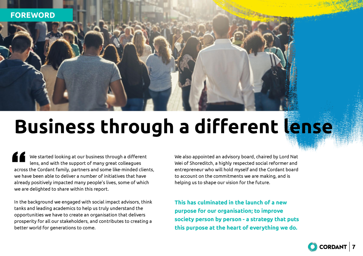 FOREWORD  Business through a di   erent lense       We started looking at our business through a di   erent lens, and with...
